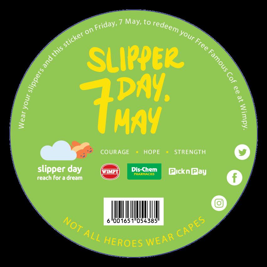 slipper-day-sticker-green